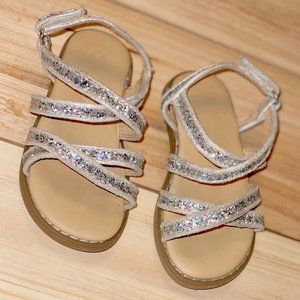 Toddler Girl Shoes Size 5 Strap Sandals Glitter